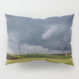 Twins - Two Tornadoes Touch Down Near Dodge City Kansas Pillow Sham
