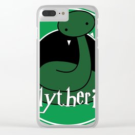 Slytherin logo Clear iPhone Case