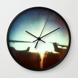 Sea-Tac At Sunset Wall Clock