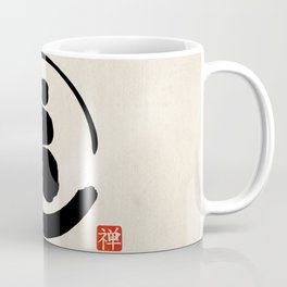 Zen Enso Circle and Zen stones Coffee Mug