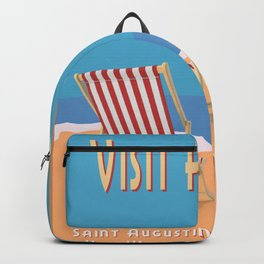Florida Vintage Travel Poster Backpack