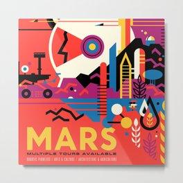 MARS - JPL Travel Poster Metal Print