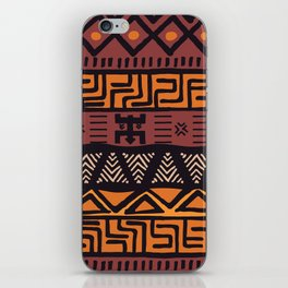 Tribal ethnic geometric pattern 021 iPhone Skin