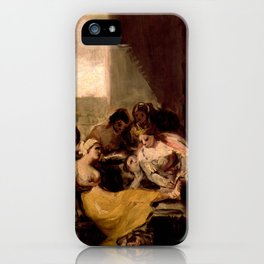 """Francisco Goya """"Saint Isabel of Portugal Healing the Wounds of a Sick Woman"""" iPhone Case"""