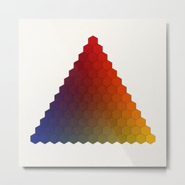 Lichtenberg-Mayer Colour Triangle variation, Remake using Mayers original idea of 12+1 chambers Metal Print