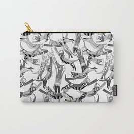cat party black white Carry-All Pouch