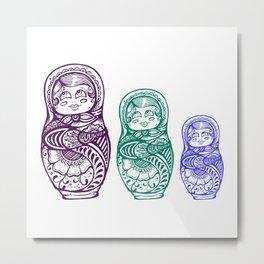Nesting Doll Metal Print