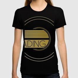 LEADING Geometric Art Circle & Stripes T-shirt