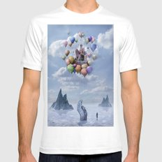 Sweet Castle White Mens Fitted Tee MEDIUM