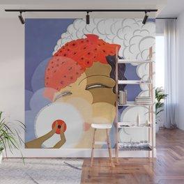 "Art Deco Design ""Powder Puff"" Wall Mural"