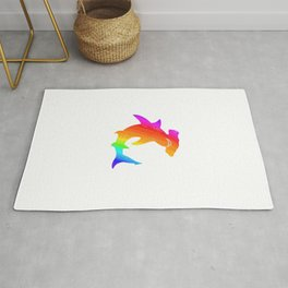 Rainbow hammerhead Rug