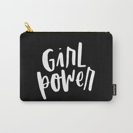 Girl Power 2 White and Black Carry-All Pouch