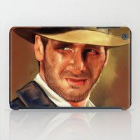 indiana iPad Cases featuring Indiana by Katie Arts