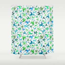 Tree Frogs Shower Curtain