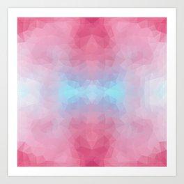 Mozaic design in soft colors Art Print