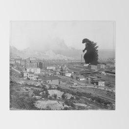 Old Time Godzilla Throw Blanket