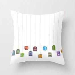 c[_] I love tea c[_] Throw Pillow