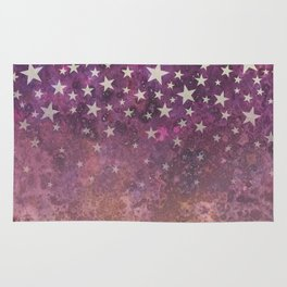 foxes under the stars Rug