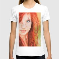 redhead T-shirts featuring Redhead Girl by Samuel Silva
