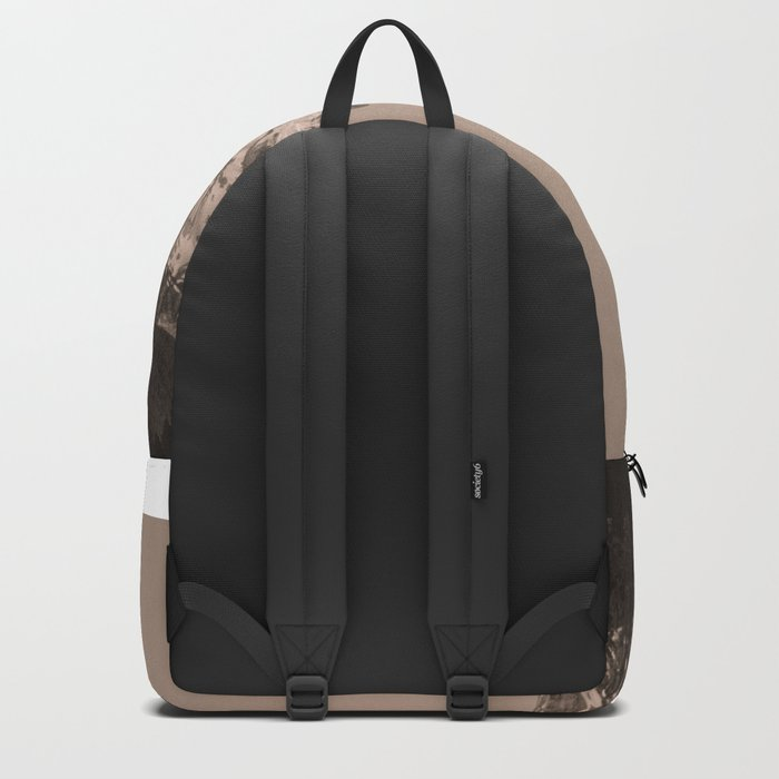 Mount Hood - Black and White Backpack