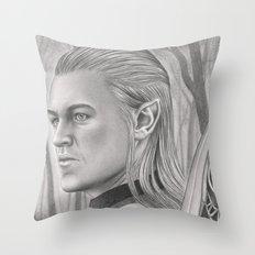 Elf Archer Throw Pillow