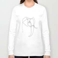 Elephant line Long Sleeve T-shirt