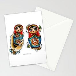 Matryoshkas Flash Stationery Cards