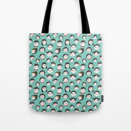 Pattern Project / Faces Tote Bag