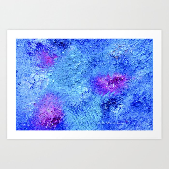"""""""Ocean Floor"""" Painting Art Print"""