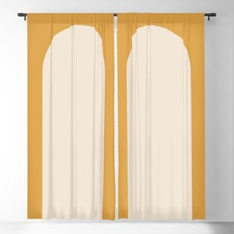 Minimal Arch - Golden Yellow Blackout Curtain