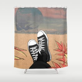 Take it eazy. Shower Curtain