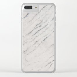 Marble Silver Glitter Glam #1 #shiny #gem #decor #art #society6 Clear iPhone Case