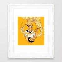 ramen Framed Art Prints featuring Ramen by Jiaqi He