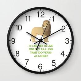 Lion Smart Motivational Quote Wall Clock