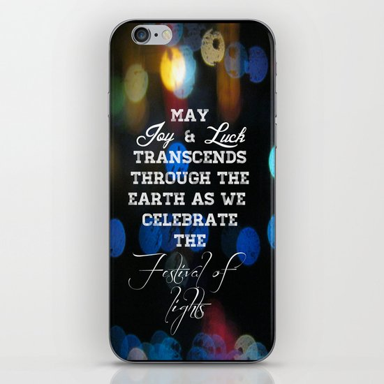 Festival lights iPhone & iPod Skin