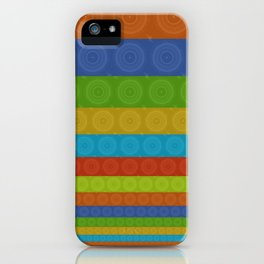 Coloured circles iPhone Case