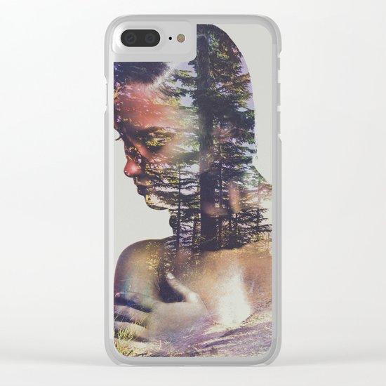 Wilderness Heart II Clear iPhone Case