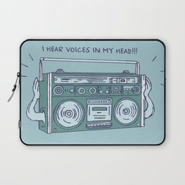 I hear voices in my head Laptop Sleeve