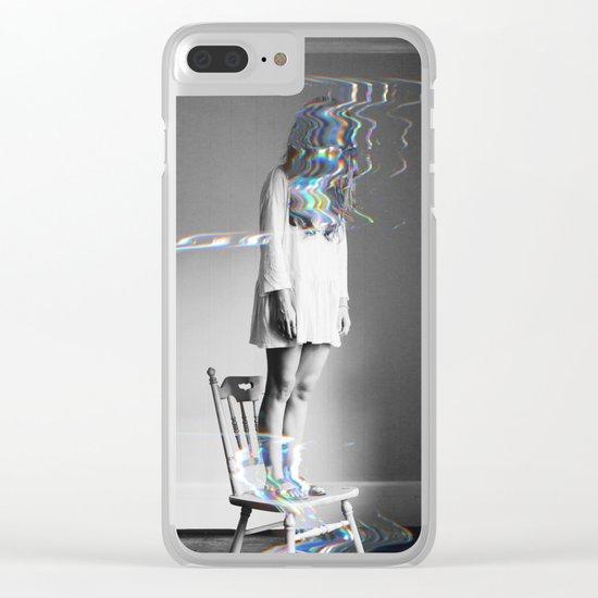 Glitch Girl Clear iPhone Case