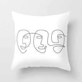 Line Carnival Throw Pillow