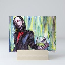 MaNsinthe, portrait of M.M. made by Ines Zgonc Mini Art Print