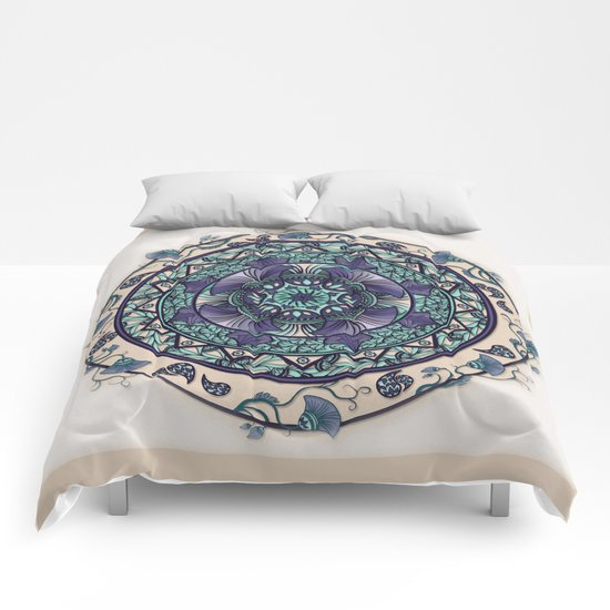 Morning Mist Mandala Comforters