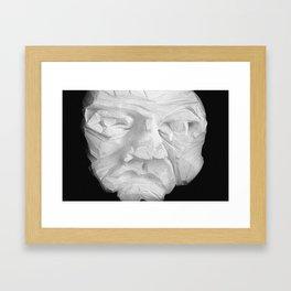 It's just a face Framed Art Print