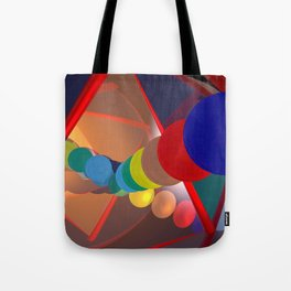 in a mirror -1- Tote Bag