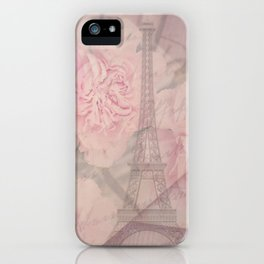 Parisian Romantic Collage iPhone Case