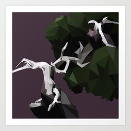 Geometric pattern, Bonsai tree Art Print