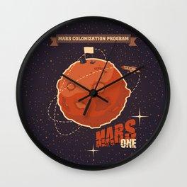 Mars colonization project Wall Clock