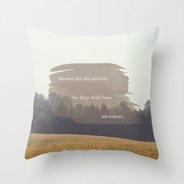 THE CURIOUS Throw Pillow