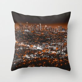 Los Angeles Panorama Throw Pillow