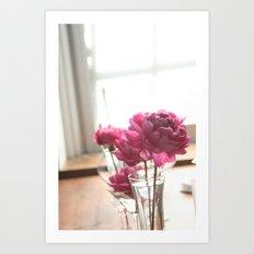 Fluttery Pink | Flowers Art Print